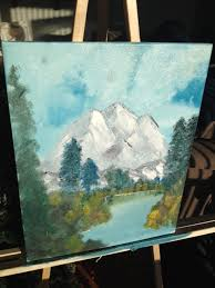 my own painting trying to resemble bob ross s but failing