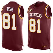 Monk Men's Elite 81 Red Nfl Redskins Washington Burgundy Art Jersey Stitched