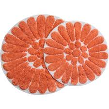 Coral Bathroom Rugs Bursting Flower 2 Piece Bath Rug Set Walmartcom