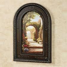 pomeriggio arched framed wall art multi warm on brown framed wall art with pomeriggio arched framed wall art