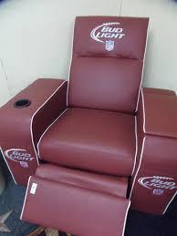 lot 114 bud light football recliner w cooler in arm rest