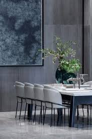 rich colors create an ont modern dining room