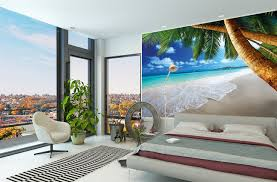 Palm Tree Decor For Bedroom Home Decoration Beautiful Wall Murals With Beach With Palm Tree