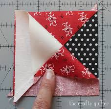 Quarter Square Triangle Tutorial The Crafty Quilter