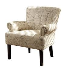 vintage office chair. homelegance langdale 1212f2s vintage print fabric flared arm accent chair beige office