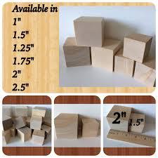 solid 30 wooden blocks diy wood blocks wood cubes square blocks