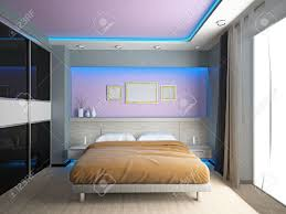Modern Interior Bedroom Modern Interior Of A Bedroom Room 3d Stock Photo Picture And