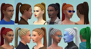 Mod The Sims - Ponytail Braids/Cornrows for Adults (Child-To-Adult  Conversion)