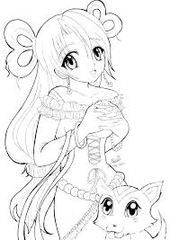 Anime Coloring Pages Cute Girl Colouring Cotton Vampire Geostep