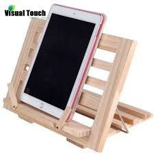 visual touch luxury wooden foldable recipe book stand cookbook holder ipad mobile rack doent holders