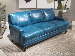 Blue Leather Sofa Fair Design Brilliant Turquoise Comfy Light For 17
