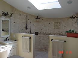 Open Shower Design traditional-bathroom