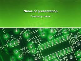 Powerpoint Circuit Theme Integrated Circuit Free Presentation Template For Google