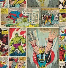 Marvel Bedroom Wallpaper Marvel Marvel Comic Strip Childrens Wallpaper Children Marvel