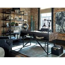 modern rustic office. Simple Modern Rustic Office Design Furniture : Impressive 4643 Industrial Home Fice Desk With Steel Base By R