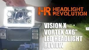 vision x vortex 4x6 led headlight review headlight revolution you