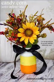 best mason jar crafts for fall candy corn color dipped vase diy mason jar