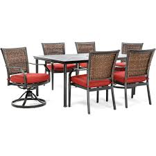 Patio Dining Sets With Red Cushions