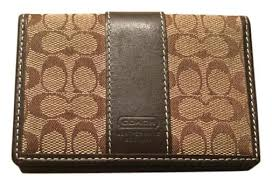 ... coach coach signature brown small wallet