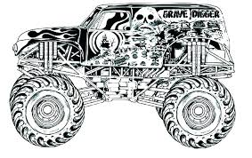 Coloring Page Truck Monster Pages Trucks Free Printable Fire To