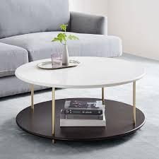 tiered quartz coffee table