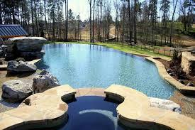 backyard infinity pools. Soothing Infinity Swimming Pool Sample Backyard Pools