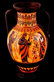 Grecian Pottery Designs Classical Greek Pottery Amphora Dionysus And Ariadni Greek Cer
