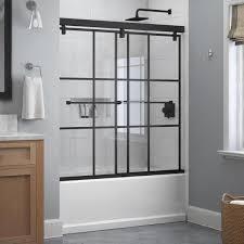 mod semi frameless sliding bathtub door