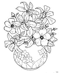 coloring book flowers elegant cool vases flower vase coloring page pages flowers in a top i
