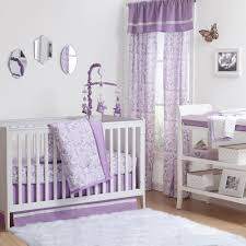 the peanut shell 4 piece baby girl crib bedding set purple and lavender rose fl print 100 cotton quilt dust ruffle fitted sheet