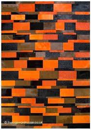 orange and gray rug orange modern rug rug a vibrant handmade orange brown black cowhide leather orange and gray rug