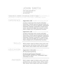 Resume Templates Word Download Resume Federal Resume Template ...