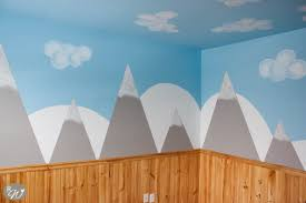 diy mountain wall with cloud tutorial
