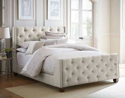 tufted bedroom furniture. Carmen, Carmen Queen Upholstered Bed - Gray, Dining Room Table Sets, Bedroom Furniture, Curio Cabinets And Solid Wood Furniture Model Home Gallery Tufted