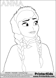 Small Picture Princess Anna Of Arendelle Coloring Page coloring page