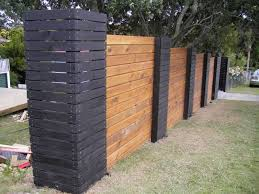Small Picture 2 colour timber fence with big pillar at its end unusual garden