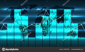 World Map With Diagram Chart And Graph On The Background Of