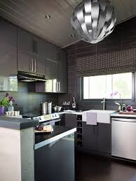 modern interior kitchen design.  Interior Modern Gray Kitchen To Interior Design E