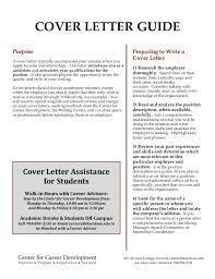 University Career Services Cover Letter Lezincdc Com