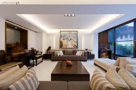 Interior Design Large Living Room High Gloss Finish Teak Wood Coffee Table Round Lacquered Wood