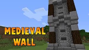 minecraft wall designs. Minecraft : Medieval Wall Design Tutorial 5 Designs