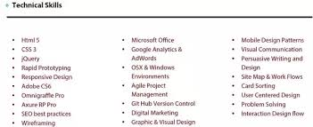 What Does The Resume Cv Of A Ui Ux Designer Who Got Job At