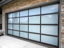 image of frosted glass garage door panels
