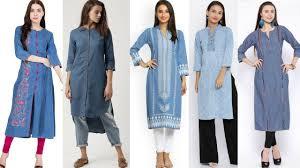 Kurta Designs To Wear With Jeans Denim Kurti Designs To Wear With Jeans Palazo Pants Denim