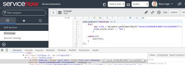 UI Script and DOM - Developer Community - ServiceNow Community