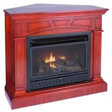 ventless gas fireplace corner red