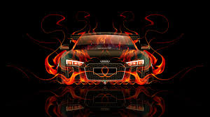 audi r8 fire car abstract