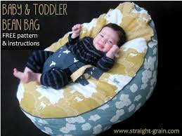 free pattern and tutorial baby and toddler bean bag straightgrain