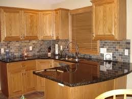 Garden Web Kitchen Honey Oak Kitchen Cabinets With Black Countertops Pearl Or