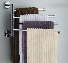 Amazon Com Ioven Wall Mounted Stainless Steel Swing Bathroom Towel Rack Hanger Holder Organizer 4 Ar Håndklædeholdere Håndklæde Opbevaring Badeværelse Lille